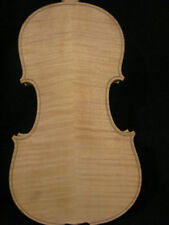 1pcs Unfinished violin4/4,very good sound, flame of back