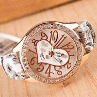 Damen Mädchen Armbanduhr Uhr Golden Edelstahl Kristall Luxus Casual Uhren Watch
