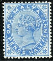 Malta 1885 Dull-blue 2.5d crown CA lightly mounted mint SG24