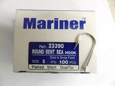 1 Confezione ami Mariner 23390 size 5 Q'ty 100pcs ROUND BENT SEA HOOKS pesca w40