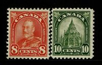 Canada SC# 172 and 173, Mint Hinged, Hinge Remnant - S11436