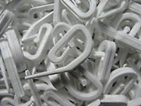 CURTAIN HOOKS FOR CURTAINS WHITE PLASTIC NYLON TAPE GLIDERS 100 X CHEAP