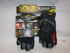 Mechanix Wear FastFit Multi Purpose Heavy Duty Work Gloves 2 Pack Black Large