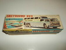 Vintage Japan Tin Greyhound Super Scenicruiser Toy Bus NIB Friction Vehicle!