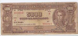 Bolivia 5000 bolivianos 1945