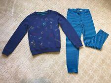 Mini Boden Embroidered Sweatshirt & Hanna Leggings~Fun Outfit~Sz 11-12~Lknw~Fab