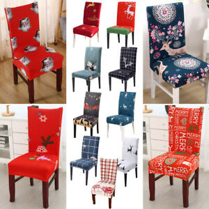 Washable Elastic Spandex Covers Dining Room Slipcovers Stretch Chair Protecter