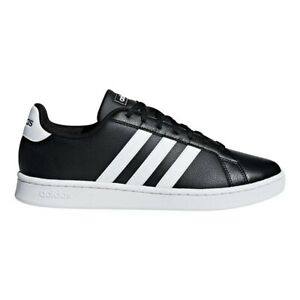 Adidas Trainers Shoes Sneakers Casual Pumps Grand Court - Black - Womens Ladies