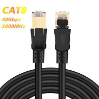 Cat8 Ethernet Cable RJ45 Network Cable 25/40Gbps 2000MHz Router Internet Cord