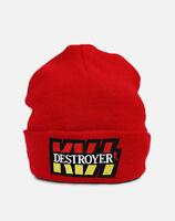 Kiss Destroyer Red Hipster Retro Vintage Rock Logo Licensed Beanie Winter Hat