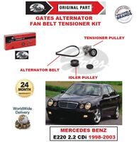 GATES Ventola Alternatore Cintura Kit Tenditore per Mercedes Benz E220 2.2 CDI