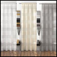 OAKLAND VOILE Panel Net Curtain Stripe Slot Top Heading