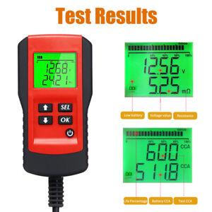 12V Car Battery Load Tester Digital Battery Life Analyzer Tool 100~9999 CCA