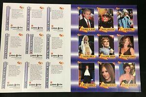 2003 ROOKIE REVIEW UNCUT CARD SHEET (24) MINT CARDS J-LO EMINEM KISS 50 CENT +++