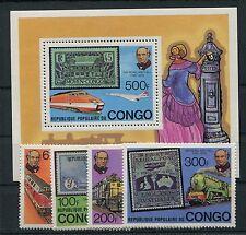 Kongo ( Brazzaville ) 680/83 Block 19 postfrisch / Eisenbahn .............1/2932