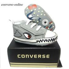 Baby Boys CONVERSE All First Star SHARK SLIP ON Crib Trainers Shoes 19 UK SIZE 3