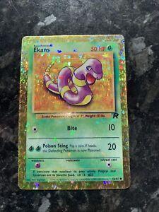 Pokemon Prism Sticker Card Team Rocket Ekans