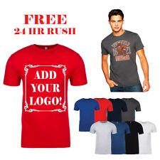50 Custom Screen Printed T Shirts in Bulk, Next Level Premium Fitted Adult