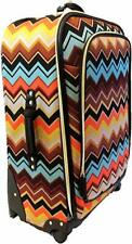 """Missoni For Target Spinner 28"""" Luggage Multi Color Chevron Zig Zag"""