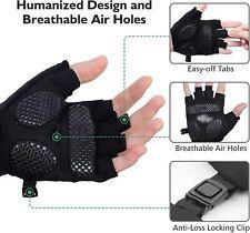 Mens Cycling Gloves Fingerless Windproof Half Finger MTB Road Bike Shockproof