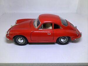 Burago 1:18 Porsche 356B Coupe 1961 in Red.