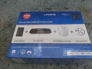 Linksys AC1600 Router AC1200 Range Extender DOCSIS 3.0 Cable Modem Bundle OPEN B