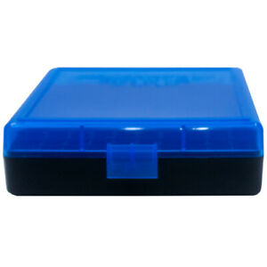 9mm / 380 Ammo Box Blue/Black 100 Round (Quantity 5) Free Shipping (Berry's)