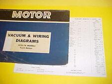 1970 1971 1972 1973 1974 FORD TORINO CONVERTIBLE CYCLONE VACUUM+WIRING DIAGRAMS