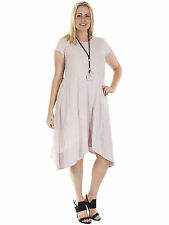 Cotton Geometric Casual Plus Size Dresses for Women