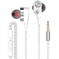 Hot hifi earphone dual dynamic headphone super bass stereo headset with mic YN