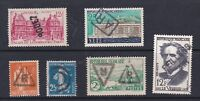 FRANCE LOT 6 TIMBRES  CACHET OBLTERATIONS SPECIALES : R RECOMMANDE AR LINEAIRE