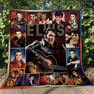 Elvis Presley Singles Ver9 Fleece Blanket For Lovers