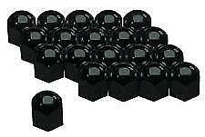 19mm Black High Gloss Stainless Steel Wheel Nut Covers with removal tool M17/10