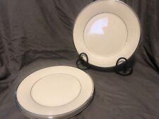 "(4) LENOX SOLITAIRE IVORY  PLATINUM 10-3.4"" DINNER PLATES"