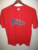 Philadelphia Phillies MLB Baseball Team #17 Manley Pennsylvania USA T Shirt Lrg