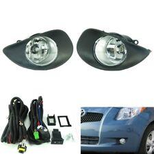 Clear Lens Driving Fog Lights + Switch Kit for Toyota Yaris Hatchback Vitz 06-08