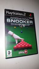 * Sony Playstation 2 Game * INTERNATIONAL SNOOKER CHAMPIONSHIP * PS2