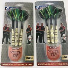 New listing UNICORN GT125 Steel Tip Darts Set of 3 LEVEL 1 sealed 2 packs Lot Of 2 New
