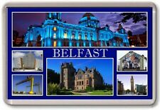 FRIDGE MAGNET - BELFAST - Large - Northern Ireland TOURIST