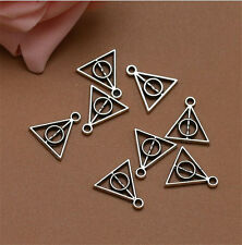 Wholesale 20pcs Tibet Silver Triangle Charm Pendant Beaded Jewelry 106