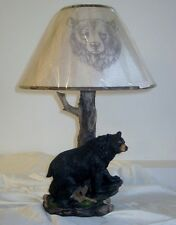"""Bear Table Lamp with Shade Light North American Wild Animals 20"""" Tall New"""
