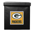 Green Bay Packers Ottoman - Folding Chest Seat Small Foot Rest with Sofa Tray