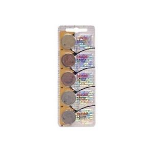 Maxell Micro Lithium Cell Battery CR2016 for Watches and Electronics 5 Pack