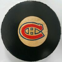 MONTREAL CANADIENS VINTAGE VICEROY MADE N CANADA NHL APPROVED OFFICIAL GAME PUCK