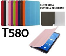 Smart Cover Custodia Flip Samsung Galaxy Tab A 6 10.1 T580 T585 (2016) ecopelle