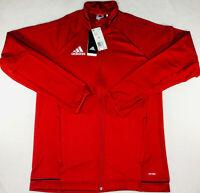New adidas Tiro 17 Red/White Training Full Zip Jacket BQ8196 Mens Size M
