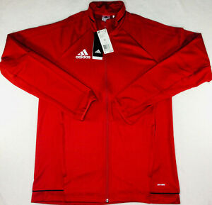 New adidas Tiro 17 Red White Training Full Zip Jacket BQ8196 Mens Size Medium
