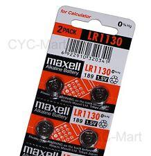 4pcs x Zero Hg Maxell LR1130  Batteries AG10 189 Brand New FREE POST 12/2019