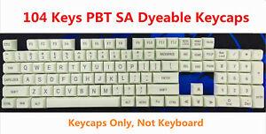 17/87/104 Keys SA PBT Dyeable Keycaps Arc Spherical for MX Mechanical Keyboards