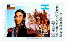 Chile 2000 #2001 150 años Fallecimiento General Jose de San Martin MNH